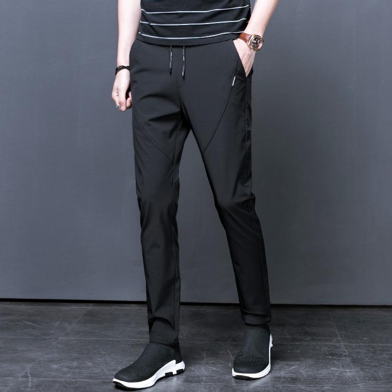 夏季男士运动裤新款薄款裤子韩版潮流哈伦裤小脚九分裤男装休闲裤