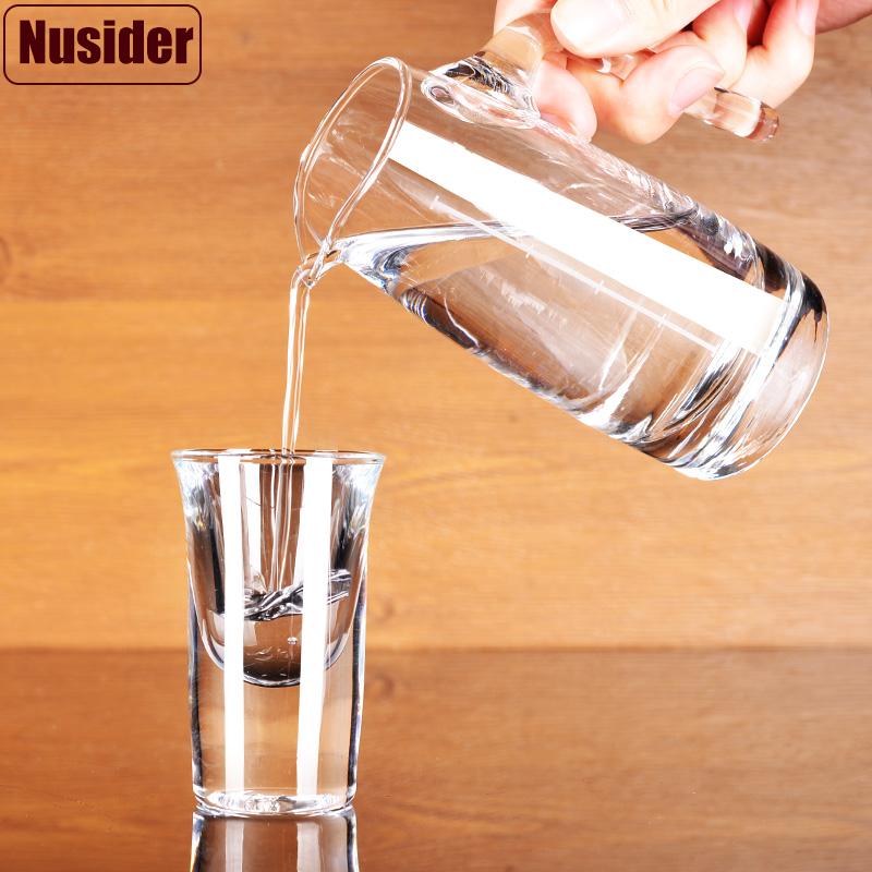 Nusider 加厚无铅玻璃白酒杯小烈酒杯一口小酒盅子弹杯倒酒分酒器