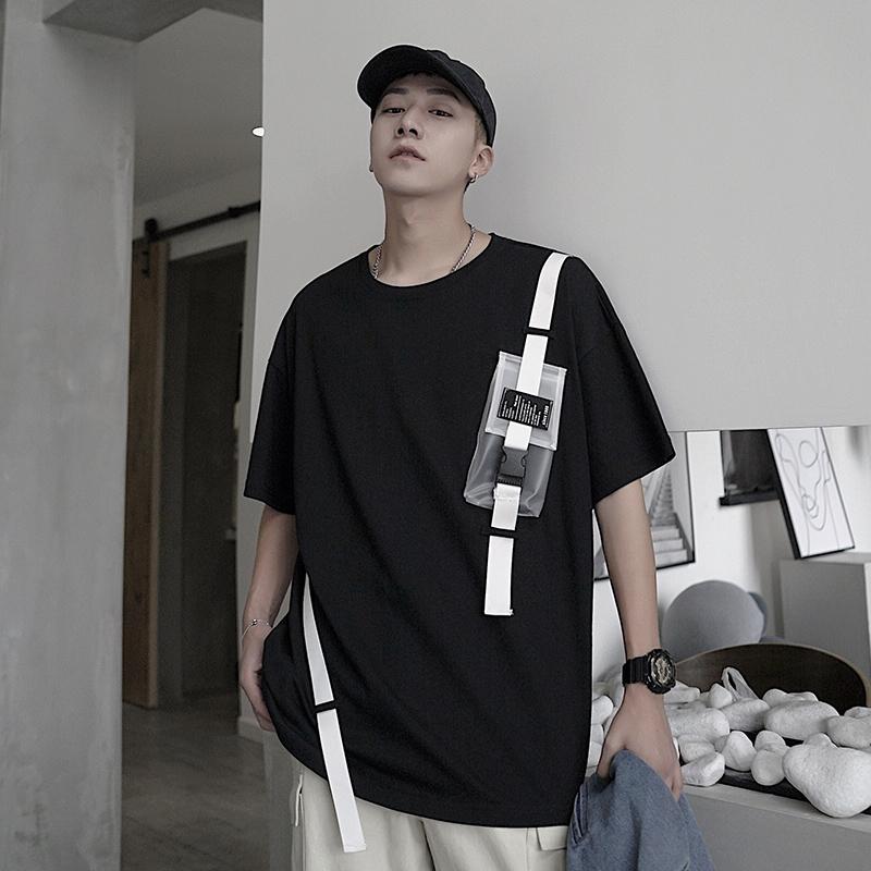男装2019新款夏季男生短袖个性t恤