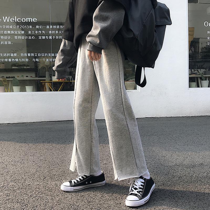 夏季2019新款潮流港风喇叭男裤子