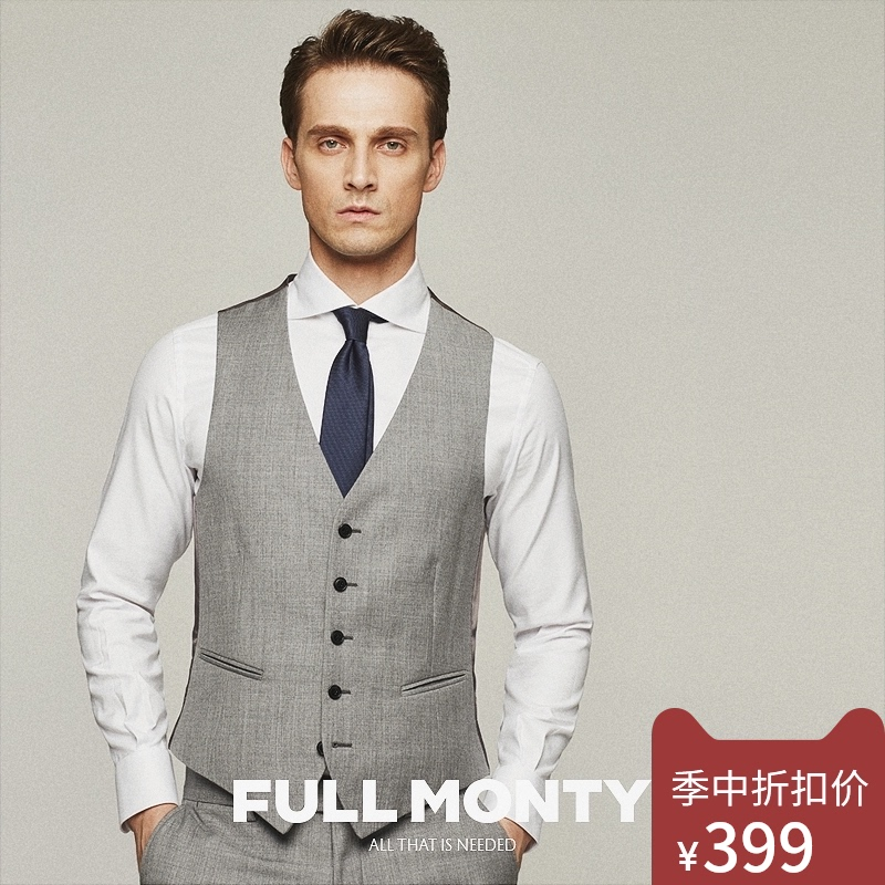Full month spring and summer wool suit vest for men professional business slim fit fashionable and handsome suit jacket