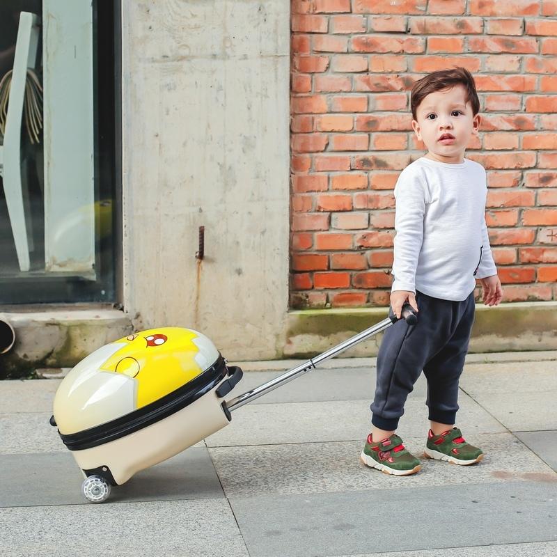 大途蛋壳箱卡通行李箱可爱宝宝登机箱儿童拉杆箱旅行箱包16寸男女淘宝优惠券