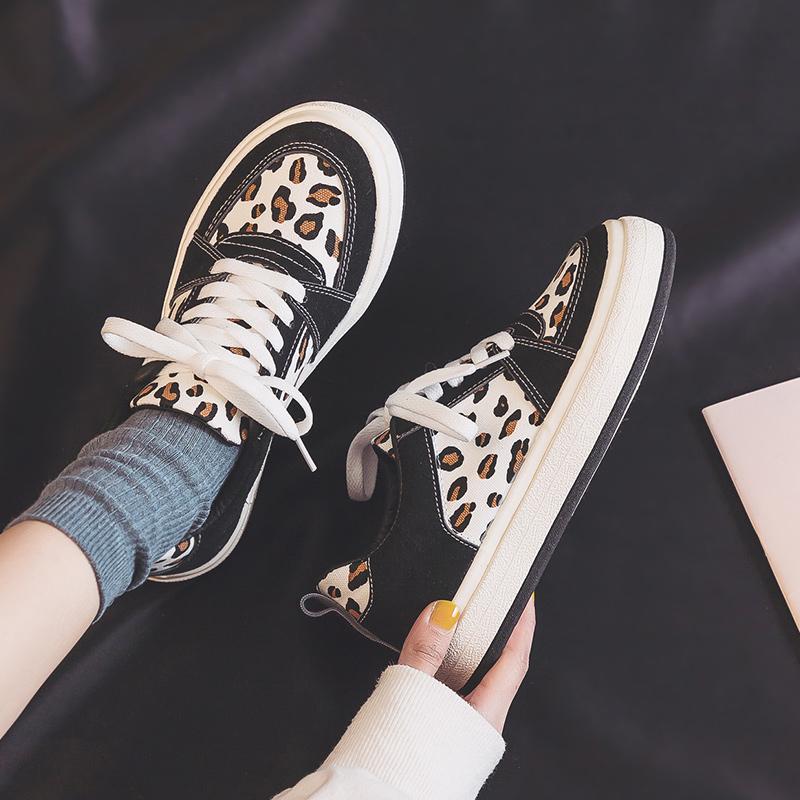豹纹2021年新款ulzzang春季帆布鞋好用吗