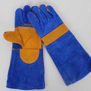 佳护40cm长款全牛皮电焊手套焊工烧焊加固加托耐用耐高温隔热手套