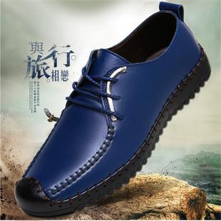 皮鞋男英伦男鞋透气新款韩版商务休闲鞋软底驾车春季单鞋潮鞋子