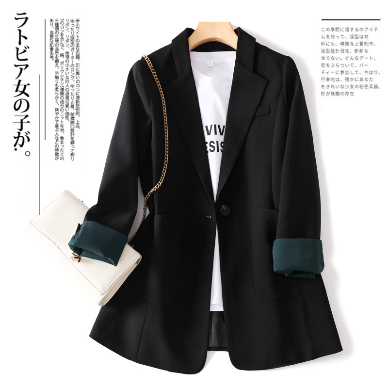 Korean net red small suit jacket women 2021 new spring and autumn Korean version of the wild loose casual suit jacket
