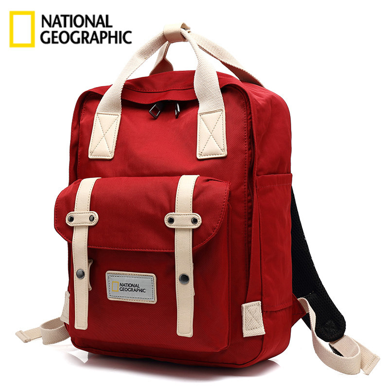 National Geographic Backpack Female Sports Outdoor Fashion Shoulder Pack Male Oxford Travel Waterproof Student Lover Bag