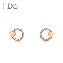 白金钻石耳饰18K铂金镶嵌美国进口莫桑石六爪钻石耳钉女款PT950