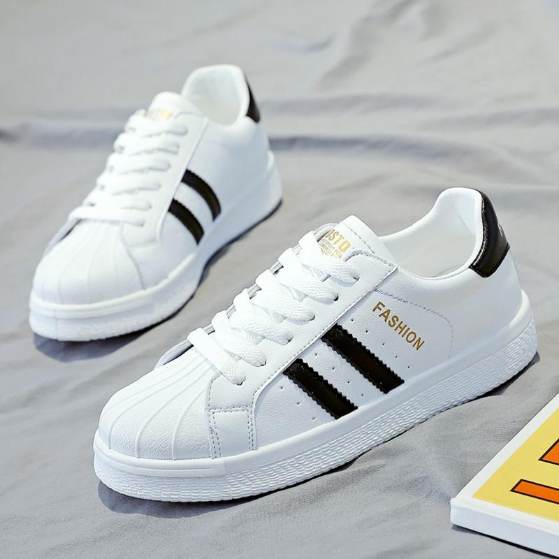 2021秋季新款夏百搭小白鞋女贝壳头运动休闲鞋板鞋子平底透气女鞋