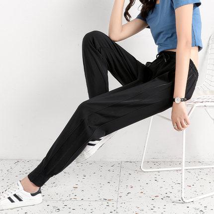 运动裤女夏季薄款九分小个子宽松束脚图片
