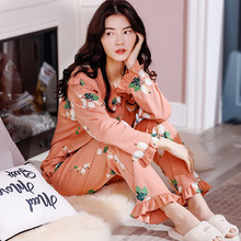 Spring and Autumn Pure Cotton Pajamas for Pregnant Women