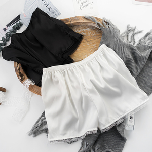 安全裤女防走光可外穿宽松不卷边蕾丝学生夏防狼保险裤打底短裤女