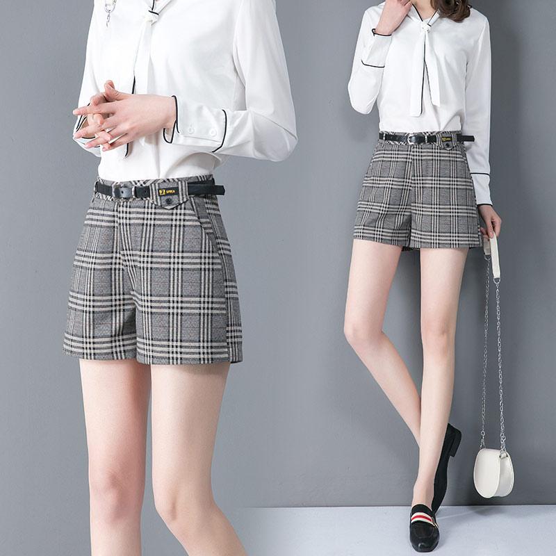 Casual Plaid high waist pants slim womens new style of 2020 spring dress versatile casual commuter ol slim pants