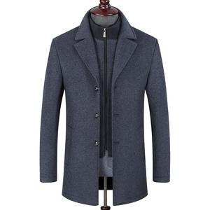 中年男装羊毛呢大衣男中长款商务妮子外套加厚秋冬季男士休闲上衣