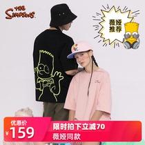 辛普森一家短袖T恤男女情侣款2020夏季新款宽松上衣薇娅推荐