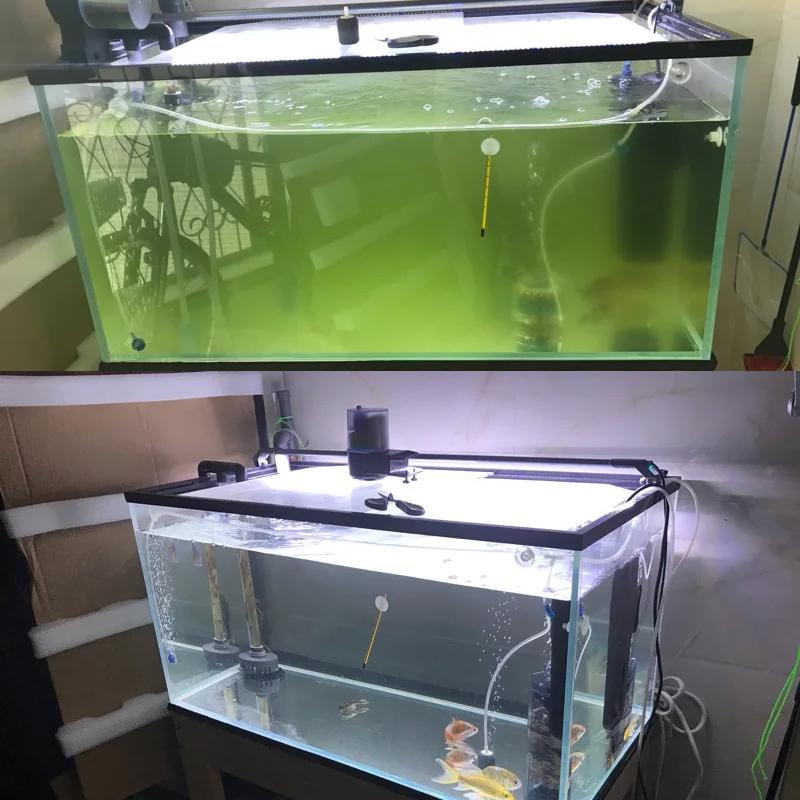 森森鱼缸三合一UV灯内置杀菌灯水族箱UV紫外线过滤器灭菌灯静音