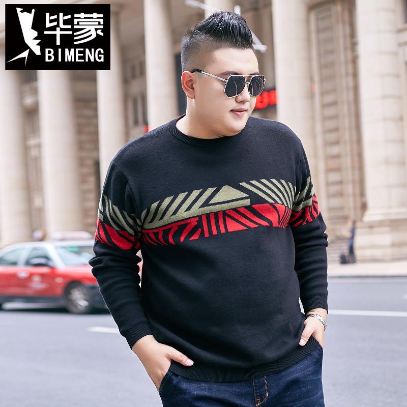 Bi mengqiu winter clothes plus fat oversized sweater fat guy oversized sweater fat man Chao brand Pullover Sweater men