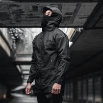 91393秋冬新款连帽宽松男式工装外套防水透湿2018户外Discovery