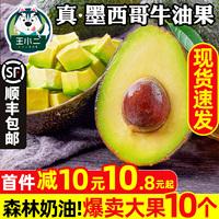 墨西哥进口牛油果10个新鲜水果大果包邮当季一箱即食鳄梨酪梨香甜