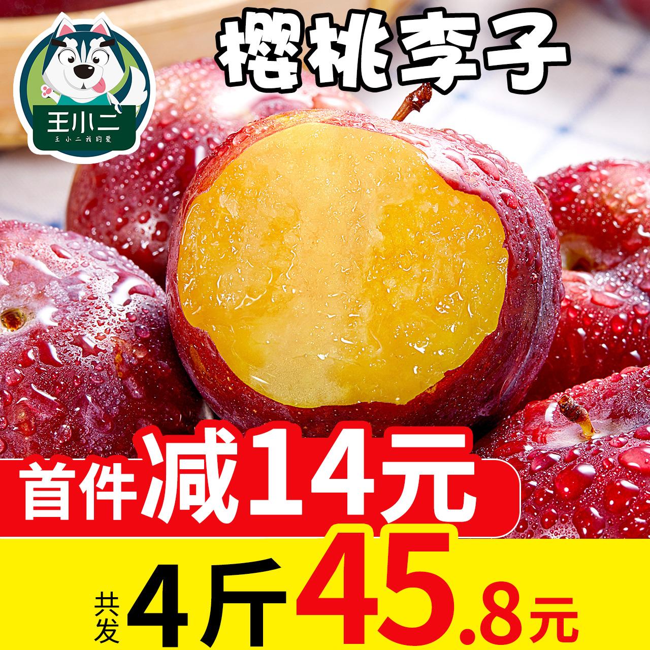 王小二 李子新鲜水果包邮当季红皮脆李子4斤孕妇应季10特产批发5