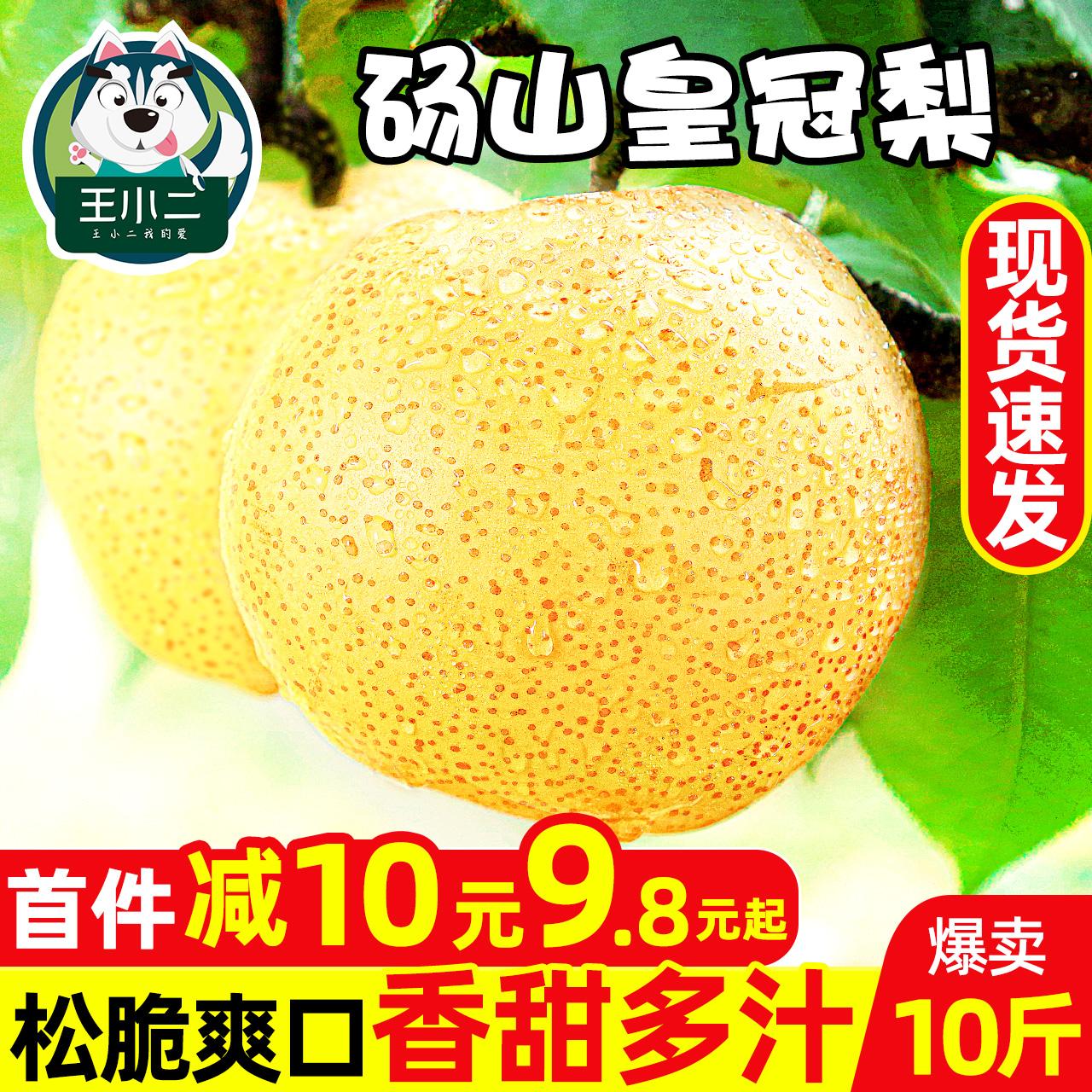 安徽皇冠梨新鲜10斤梨子砀山脆梨当季水果雪梨黄皮香甜梨整箱包邮