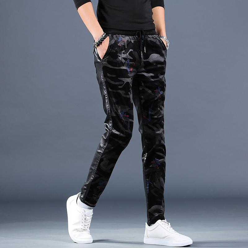 Кожаные брюки Артикул 599819358784