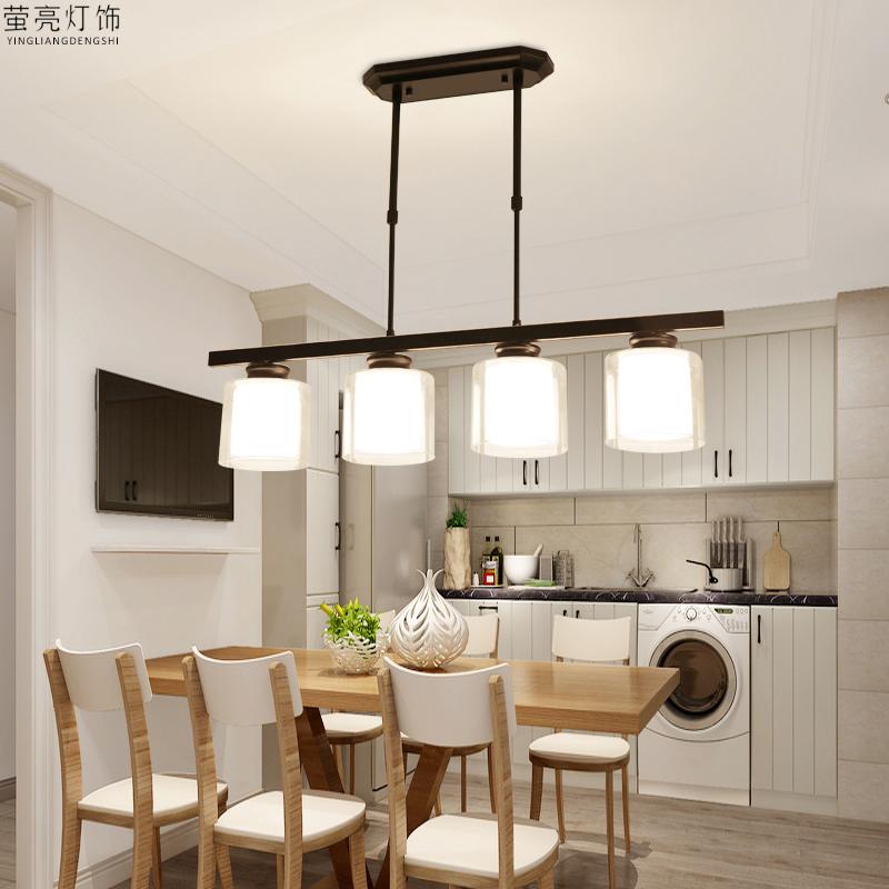餐厅吊灯现代简约北欧三头创意个性餐桌吧台家用饭厅玻璃桌面灯具