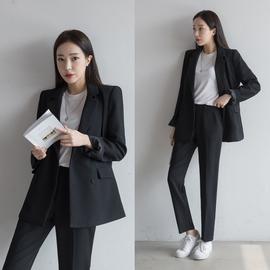 韩国秋冬新款西服外套长裤时尚职业小西装套装女休闲大学生面试服