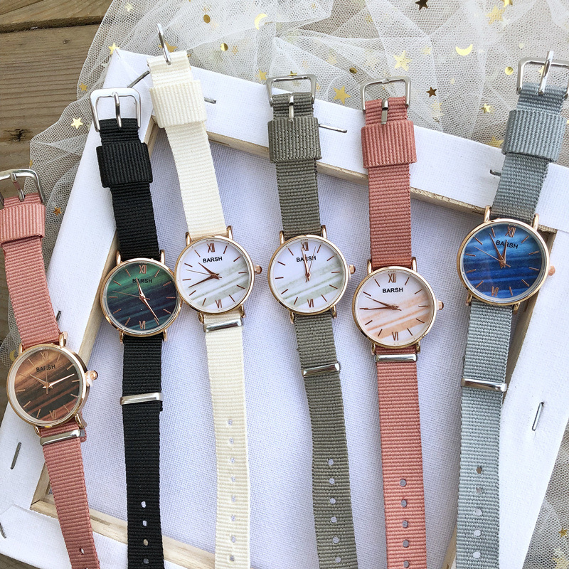 英国小众女表韩版简约气质细带小巧日系可爱少女帆布带女学生手表有赠品