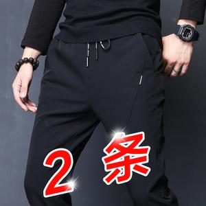 运动冰丝速干裤休闲裤男士长裤子中年夏季超薄款男裤2020年新款潮