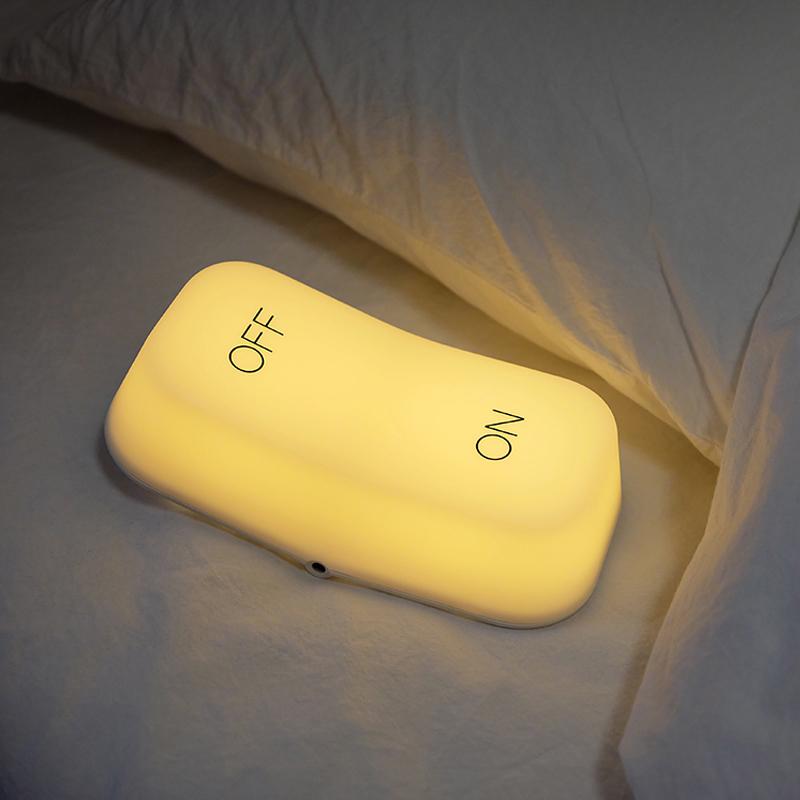 MUID重力感应开关灯智能节能led充电卧室床头触摸创意喂奶小夜灯