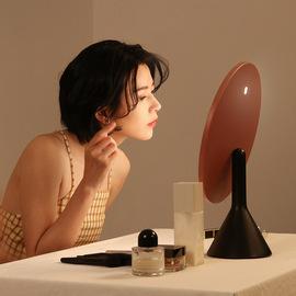 MUID大圆镜台式带灯智能高清梳妆镜桌面补光led充电美妆化妆镜子图片