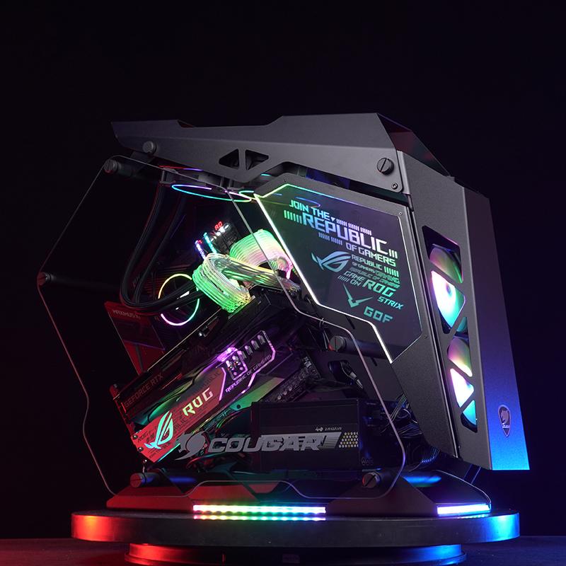 一体水冷主机高端主播专用电脑RTX2080TI9900KI9工蜂GOF