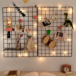 创意墙上网格壁挂式卧室铁艺置物架