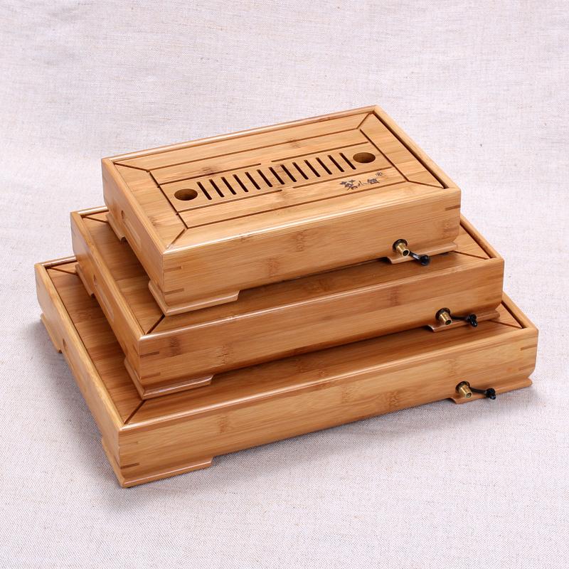 儲水茶盤竹製小茶台大號茶海 功夫茶具套裝排水式茶盤茶托盤
