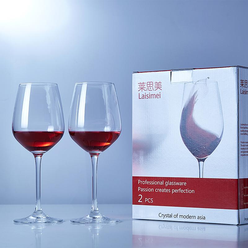 2 4隻裝水晶紅酒杯套裝 醒酒器 無鉛高腳杯子葡萄酒杯家用