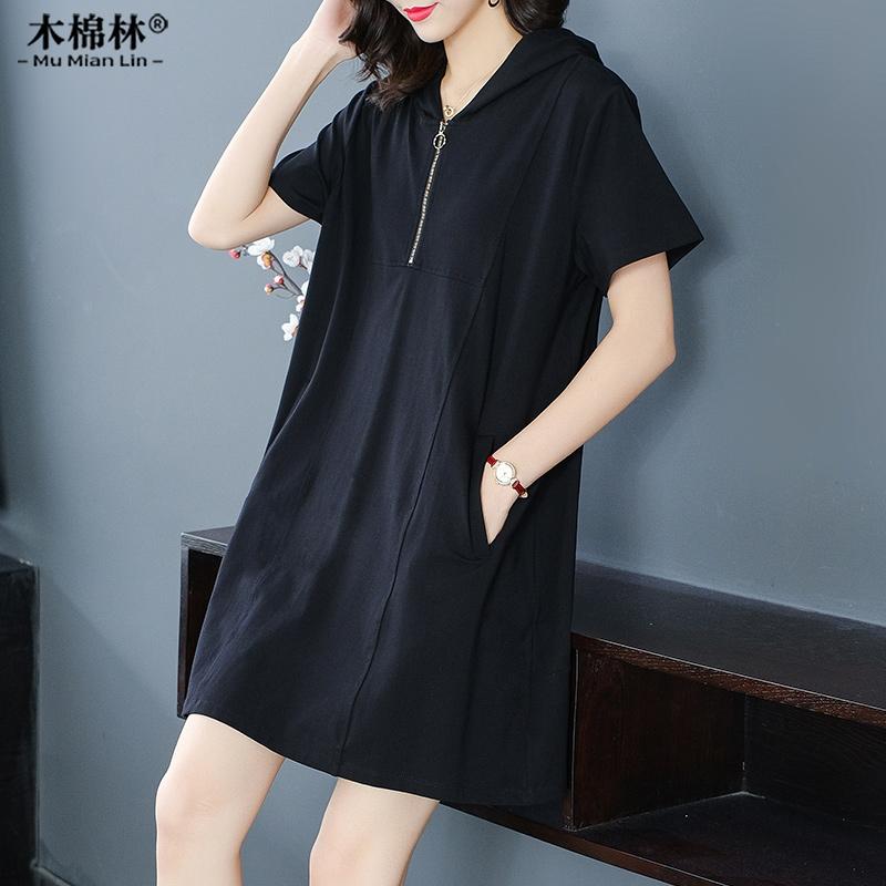 胖妹妹遮肚显瘦连衣裙大码女装2020夏装新款韩版肥mm宽松洋气裙子图片