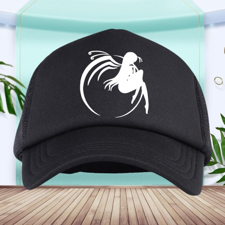 Speed up the world Hat Black Xueji around the cap animation men and women baseball cap two dimensional sun hat