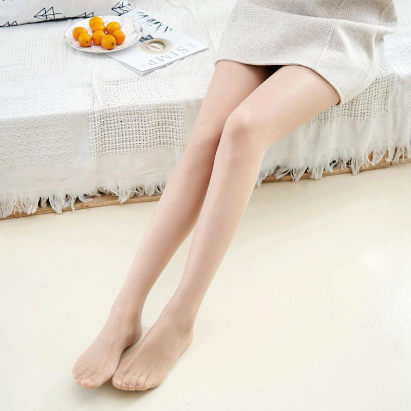 米图光腿3双哑光超薄款隐形神器天鹅绒丝袜女 防勾丝全透明连裤袜