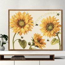 黃金發財樹墻畫掛畫現代簡約沙發背景圖客廳裝飾畫北歐風手繪油畫