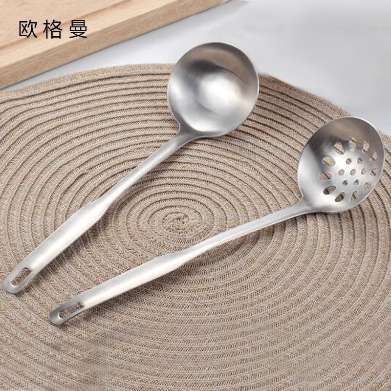 304不锈钢小勺子两件套装喝汤勺子