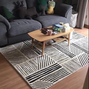 北欧风地毯客厅茶几毯卧室满铺房间可睡可坐床边毯ins风现代轻奢