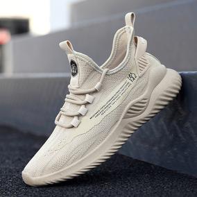 夏季透气休闲运动男士跑步潮鞋百搭网鞋潮流网面2020新款板鞋男鞋