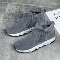 冬季加绒保暖男士棉鞋懒人一脚蹬老北京布鞋低帮雪地休闲男鞋板鞋