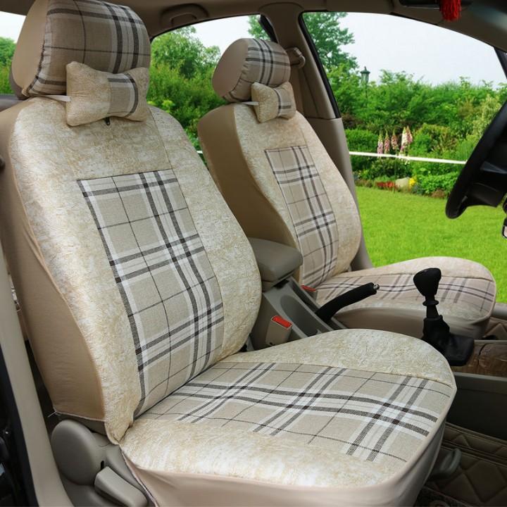 汽車座套大眾新老款捷達全包座椅套邁騰座套四季 亞麻布坐墊套