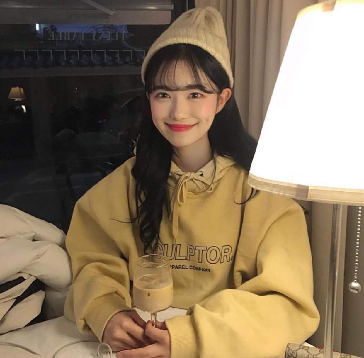 黄油少女 奶萌感~字母刺绣连帽卫衣 韩国复古学院宽松套头加绒衫