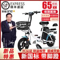 科思康电动车新国标电瓶48V小型代步助力电单车女成人电动自行车