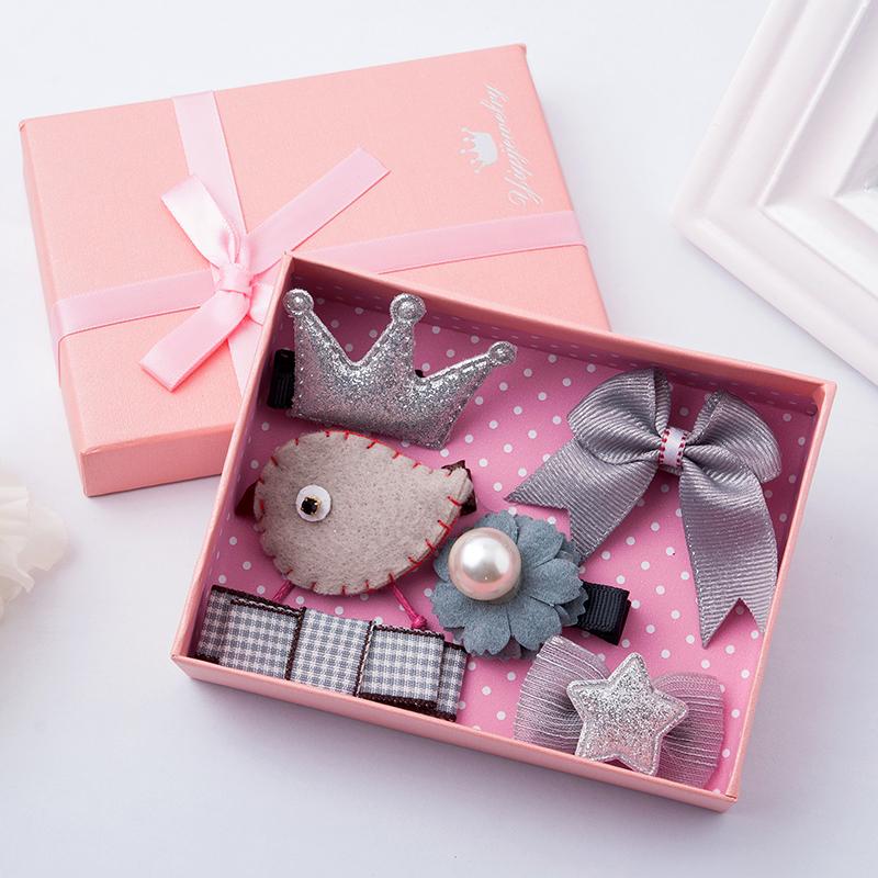 儿童发夹发饰韩版宝宝头饰夹子公主可爱边夹礼盒发卡饰品套装批发