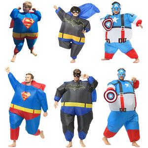 蝙蝠侠芭蕾蜜蜂充气衣服饰超人美国队长万圣节日表演出服装复仇者