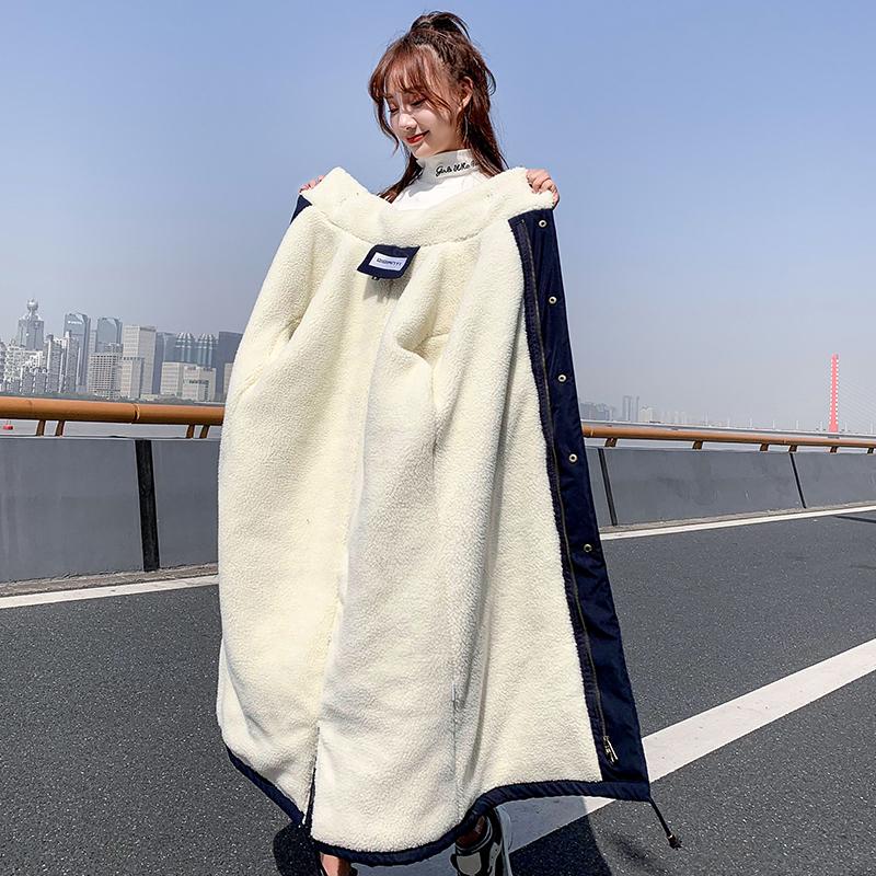 冬2020年新款韩版宽松过膝ins棉服